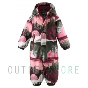 Reimatec® winter overall PUHURI Lingonberry red