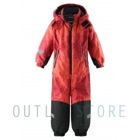 Reimatec® Kiddo winter overall SNOWY Lingonberry red