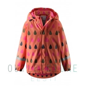 Reima raincoat with fleece lining Koski Bright salmon