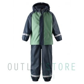 Reima rain outfit with fleece lining Joki Forest green