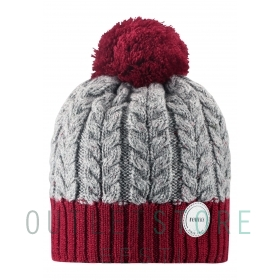 Reima winter beanie POHJOLA Lingonberry red