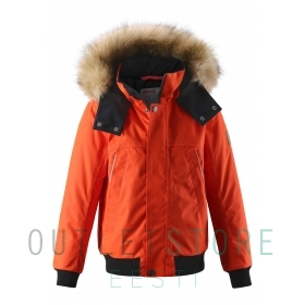 Reimatec winter jacket Ore Foxy orange, size 128 cm