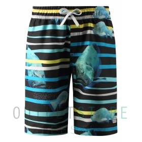 Swim shorts, Cancun Cyan blue,128 cm