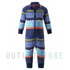 Reima Toddlers fleece overall Myytti Jeans blue