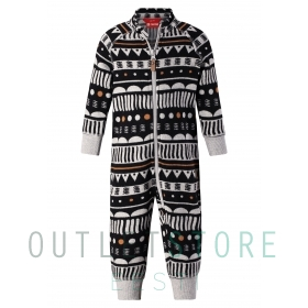 Reima Toddlers fleece overall Myytti Black