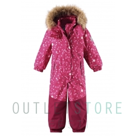 Reimatec® reflective winter overall SAANA Cranberry pink