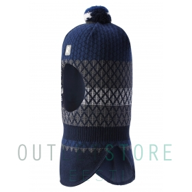 insulated wool balaclava VALTIAS Navy
