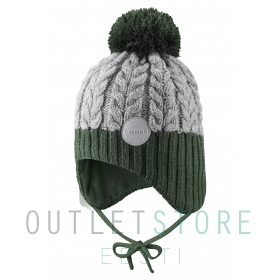 Reima winter hat Pakkas Dark green, size 50 cm