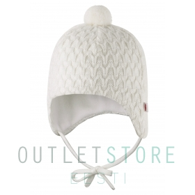Reima Winter hat Kajaus Off white, size 40/42 cm