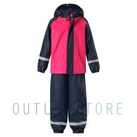 Reima rain outfit with fleece lining Joki Candy pink