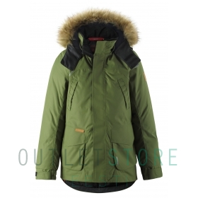 Reimatec®+ down jacket SERKKU Khaki green