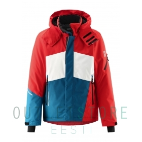 Reimatec winter jacket Laks Tomato red, size 140 cm