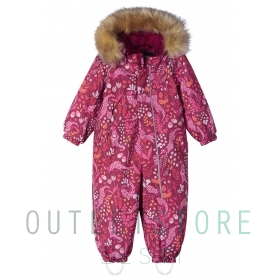 Reimatec winter overall Lappi Jam red, size 86