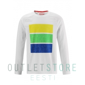Long sleeve T-shirt, Styrbord Off white,128 cm