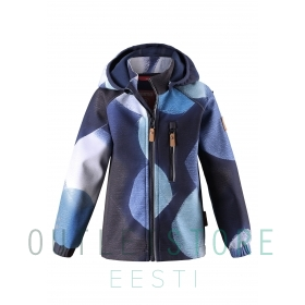 Reima softshell jope VANTTI Navy graphic